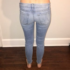 MOTHER Jeans The Looker Ankle Zip